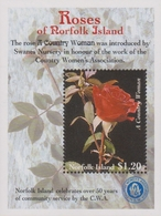 Norfolk Island ASC 693 MS 1999 Roses, Miniature Sheet, Mint Never Hinged - Norfolk Island