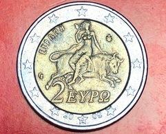 GRECIA - 2002 - Moneta - Europa Rapita Da Giove - Euro - 2.00 - Grecia