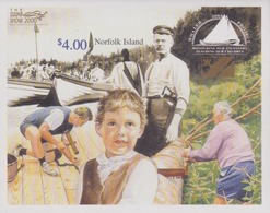 Norfolk Island ASC 717 MSa 2000 Whaler Project, Stamp Show 2000, Miniature Sheet, Mint Never Hinged - Norfolk Island