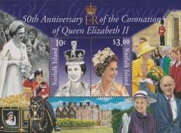 Norfolk Island ASC 837-838 2003 QE II Coronation Jubilee, Miniature Sheet, Mint Never Hinged - Norfolk Island