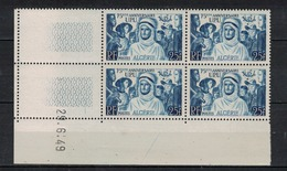 ALGERIE        N° YVERT  :  COIN DATE  N°  278    ( 29.06.49 )          NEUF SANS  CHARNIERES - Algérie (1924-1962)