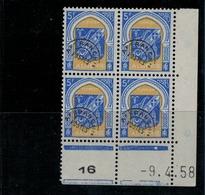 ALGERIE        N° YVERT  :  COIN DATE  N°  Preoblitéré 19     ( 09.04.58 )          NEUF SANS  CHARNIERES - Algérie (1924-1962)