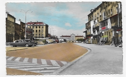 (RECTO / VERSO) RIVE DE GIER EN 1962 - N° 313 - COURS VERDUN AVEC CITROEN DS - FORMAT CPA VOYAGEE - Rive De Gier