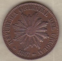 REPUBLICA ORIENTAL DEL URUGUAY. 5 CENTESIMOS 1857 D . KM# 8 - Uruguay