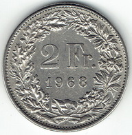 Switzerland, 2 Franc, 1968 B - Zwitserland