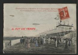 51 REIMS - Double Cpa Couleur Grande Semaine D'Aviation - Vue D'ensemble ( D'après La Peinture De Vic Charlier - Teutsch - Meetings