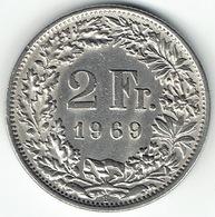 Switzerland, 2 Franc, 1969 B - Suiza