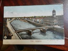 18049) PISA LUNGARNO Ed ALTEROCCA BEMPORAD VIAGGIATA 1910 - Pisa