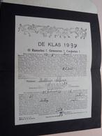 De KLAS 1937 > Matthijs Alfons ( Melderd ) > O Ranselus ! Geweerus ! Cachotus ( Zie Foto's ) > 1937 Laken Brussel ! - Documents