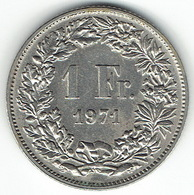 Switzerland, 1 Franc, 1971 - Zwitserland