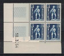 ALGERIE        N° YVERT  :  COIN DATE  N°  290     ( 18.03.54 )          NEUF SANS  CHARNIERES - Algérie (1924-1962)