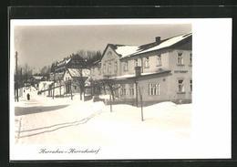 AK Harrachov / Harrachsdorf, Ortsansicht Mit Restaurant Im Winter - Czech Republic
