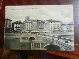 18058) PISA LUNG'ARNO MEDICEO PONTE DI MEZZO VIAGGIATA 1909 - Pisa