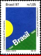 Ref. BR-2626 BRAZIL 1997 FLAGS, DISCOVERY OF BRAZIL,, 500TH ANNIV., HISTORY, MI# 2747, MNH 1V Sc# 2626 - Brasilien