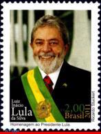 Ref. BR-3159 BRAZIL 2011 FAMOUS PEOPLE, LUIZ INACIO DA SILVA,, LULA, PRESIDENT, POLITICIANS, MNH 1V Sc# 3159 - Brésil
