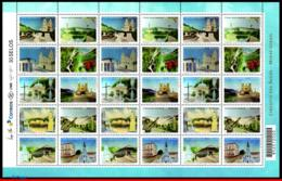 Ref. BR-3316-FO BRAZIL 2015 ARCHITECTURE, CIRCUIT OF THE WATERS,, CHURCHES, MUSIC, TRAIN, SHEET MNH 30V Sc# 3316 - Brésil