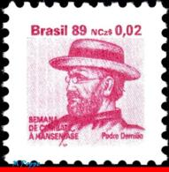 Ref. BR-RA25 BRAZIL 1989 HEALTH, HANSEN DISEASE, LEPROSY,, HANSENIASIS,FR.JOSEPH DAMIEN,MI# Z26,MNH 1V Sc# RA25 - Nuovi