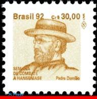 Ref. BR-RA28 BRAZIL 1992 HEALTH, HANSEN DISEASE, LEPROSY,, HANSENIASIS,FR.JOSEPH DAMIEN,MI# Z29,MNH 1V Sc# RA28 - Brasile