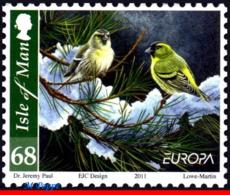 Ref. MA-V2011-3 ISLE OF MAN 2011 EUROPA, BIRDS IN WINTERS,, MNH 1V - Passereaux