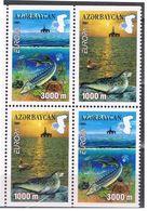2001 - Azerbaigian 502a/03a Storione Da Libr - Peces