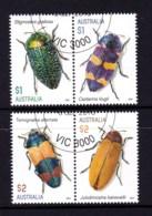 Australia 2016 Jewel Beetles Set Of 4 CTO - Oblitérés