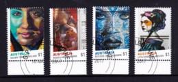 Australia 2017 Street Art Marginal Set Of 4 CTO - - - 2010-... Elizabeth II