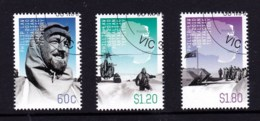 Australian Antarctic 2012 Phillip Law Centenary Set Of 3 CTO - - - - Australian Antarctic Territory (AAT)