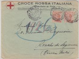 Cover Lettera Croce Rossa Pola-Viaggiata Italy Italia - Marcophilie