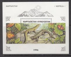 1996 Kyrgyzstan Reptiles Lizards Souvenir Sheet   MNH - Kyrgyzstan