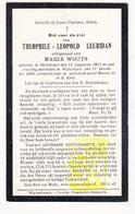 DP Theophiel L. Leuridan ° Dikkebus Ieper 1855 † Wijtschate Heuvelland 1928 X Marie Wouts - Images Religieuses
