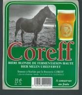 """Etiquette Biere  Blonde Coreff  Morlaix  """"cheval"""" - Bière"""