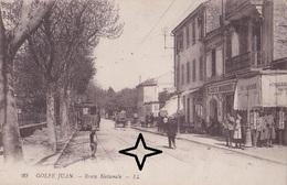GOLFE JUAN. Route Nationale - (Tramway Et Café MODERNE). - France