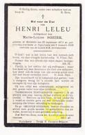 DP Henri Leleu ° Hollebeke Ieper 1871 † Wijtschate Heuvelland 1929 X Marie L. Sohier - Images Religieuses