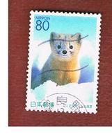 GIAPPONE (JAPAN) - SG HOKK 50  REGIONAL STAMPS -  2001   ANIMALS: MARTES ZIBELINA      - USED° - 1989-... Imperatore Akihito (Periodo Heisei)