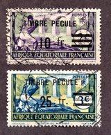 AEF Timbres Fiscaux Ayant Servi Sur Document ,TB ! Rare ! - A.E.F. (1936-1958)
