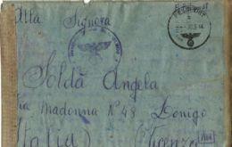 PRIGIONIERO ITALIANO COBELLIGERANTE POW 1944 FELDPOST 31808 LONIGO NAZI CACHET - 1900-44 Victor Emmanuel III