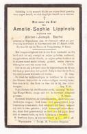 DP Amelie S. Lippinois ° Wijtschate Heuvelland 1859 † Voormezele Ieper 1928 X Alois J. Barbé - Images Religieuses