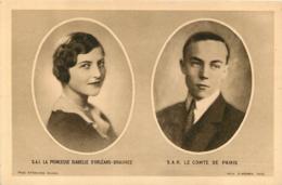 LA PRINCESSE ISABELLE D'ORLEANS BRAGANCE ET LE COMTE DE PARIS - Royal Families