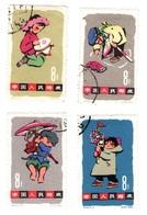 4 TIMBRES DE CHINE - JEUX D'ENFANTS - 1963 - Used Stamps