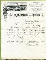 """PARIS  (1895)  : """" TISSUS D'AMEUBLEMENT - MELLERIO & FOSSE, 26 Rue Du Sentier """" - France"""