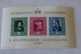 LIECHTENSTEIN Blocs Feuillets 1949 - Neufs Avec Charnière Sans Reserve - Unused Stamps