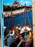 SPAGNA  ESPANA PALMA DE MALLORCA PURTO  BARCHE PESCA  Y CATTEDRAL   V1970 HA8177 - Palma De Mallorca