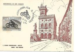 COR200 - ANNULLO SAN MARINO - MOTO MOTOCICLISMO - 28.8.1954 - Moto
