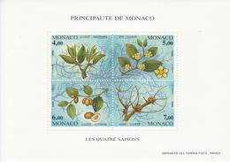 1995 Monaco Trees Arbres Souvenir Sheet Complete  MNH - Bäume