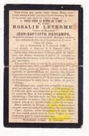 DP Rosalie Leterme ° Wijtschate 1826 † Kemmel 1901 X JB. Descamps / Heuvelland - Images Religieuses