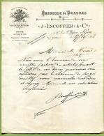 """LYON  (1888) : """" FABRIQUE DE DORURES - J. ESCOFFIER & Cie """" - 1800 – 1899"""