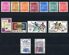 ANDORRE ESP 1982 N° 139/151 ** Neufs MNH Superbes 7,80 € Armoiries Des Vallées Coupe Monde Football Europa Assise - Neufs