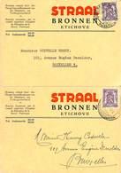 Etichove Audenarde - Straal Bronnen (2 Cartes 1949) - Belgium