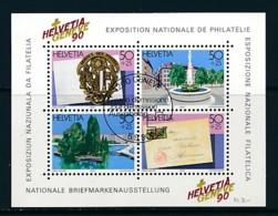 SCHWEIZ Mi. Nr. Block 26 Nationale Briefmarkenausstellung HELVETIA GENEVE '90 - Used - Blocks & Sheetlets & Panes