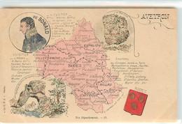 CPA 12 Aveyron Nos Départements Non Circulée Carte Géographique - France